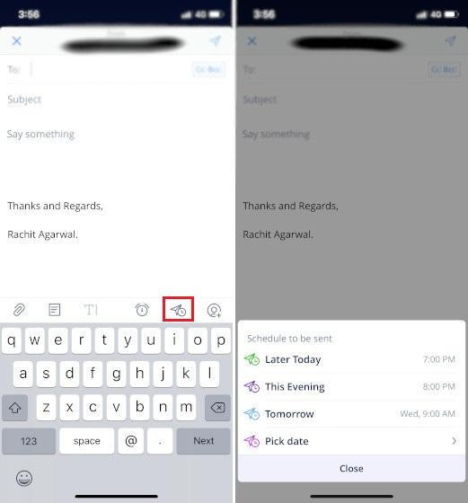 Programación del correo electrónico en Spark