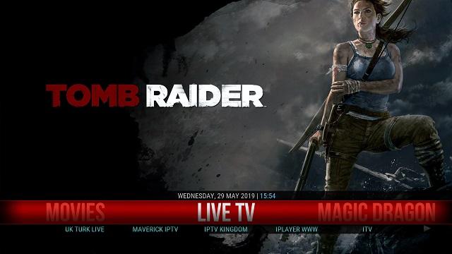 8. Tomb Raider Kodi Build