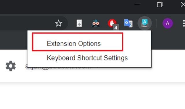 Изменить язык Google Chrome для набора текста 2