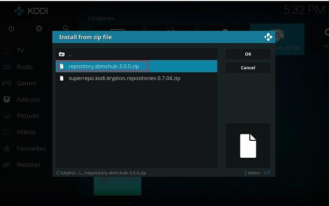 Очистить кэш на Kodi с помощью дополнения Indigo 2