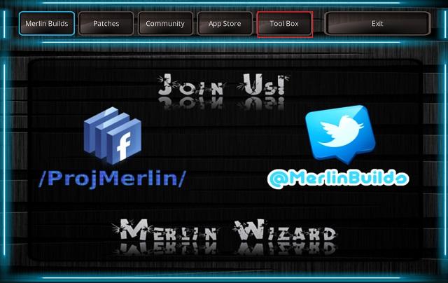 Очистить кэш на Kodi с помощью дополнения Merlin Wizard 12