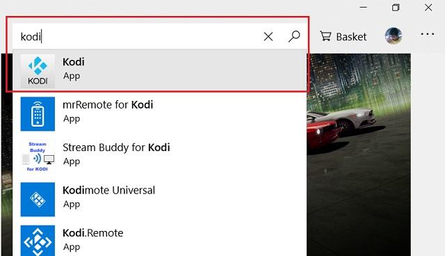 Обновление Kodi из магазина Microsoft