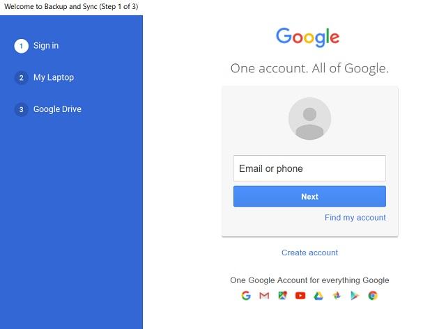 Copia de seguridad y sincronización de Google 3