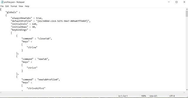 El archivo JSON se abrirá en su editor favorito