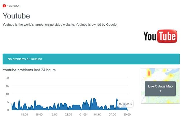 1. Проверьте, не работает ли YouTube