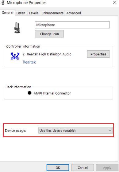 2. Настройте параметры микрофона с панели управления (3)