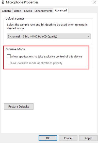 2. Настройте параметры микрофона с панели управления (6)
