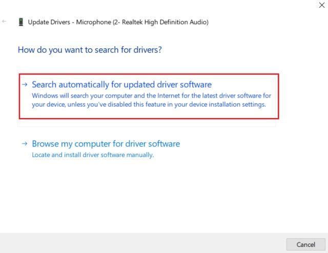 4. Обновление аудио драйвера (3) Устранить ошибку микрофона в Windows 10