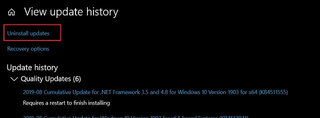Cómo corregir el uso elevado de CPU después de la actualización KB4512941 en Windows 10 (2)