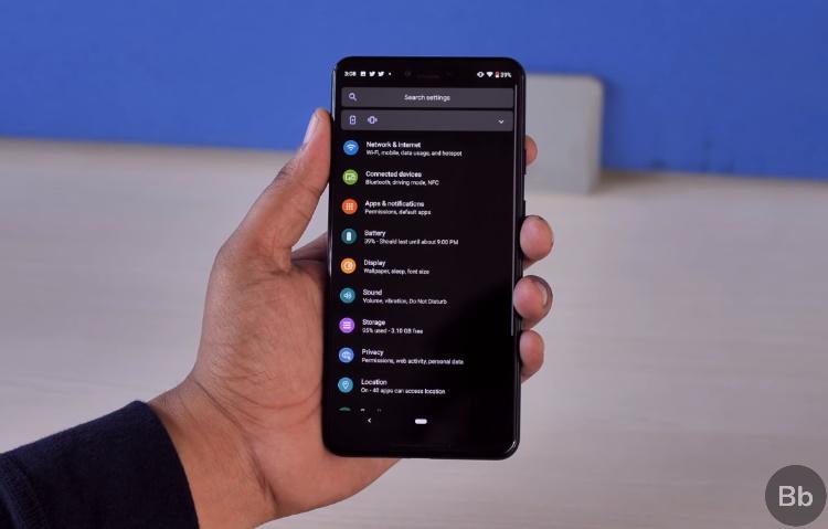 темный режим - Android 10