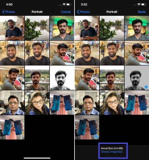 Elija el tamaño de la imagen