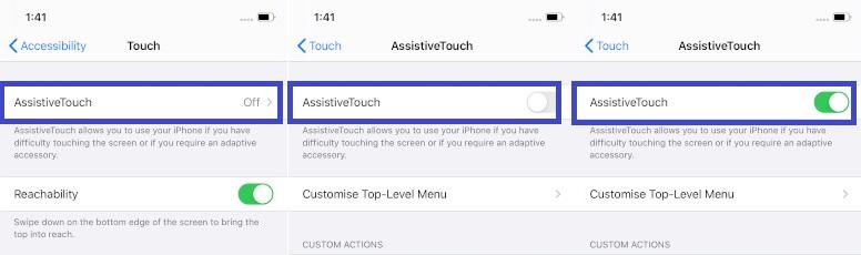 Habilitar AssistiveTouch en iOS 13