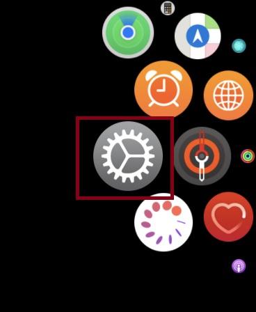 Inicie la aplicación Configuración en su Apple Watch