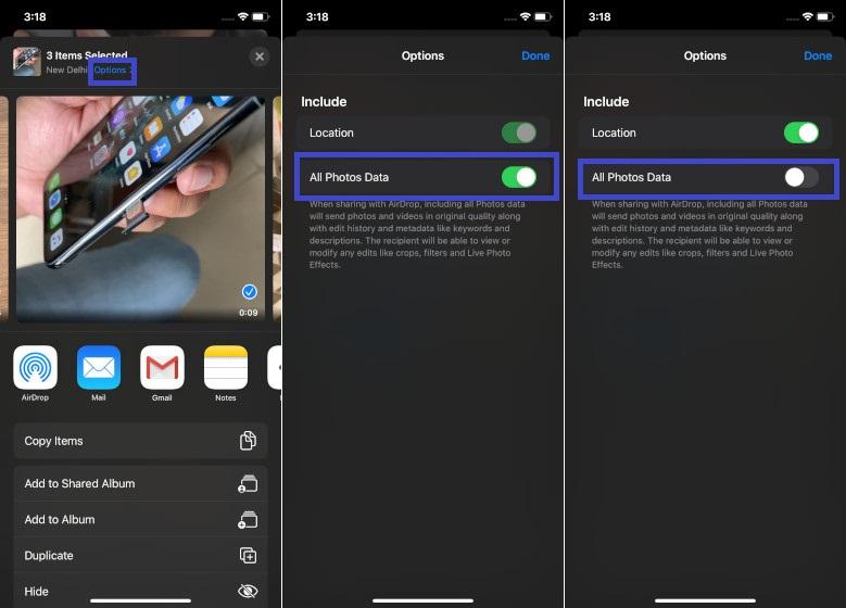 Comparta fotos de baja calidad a través de AirDrop en iOS 13 y iPadOS 13