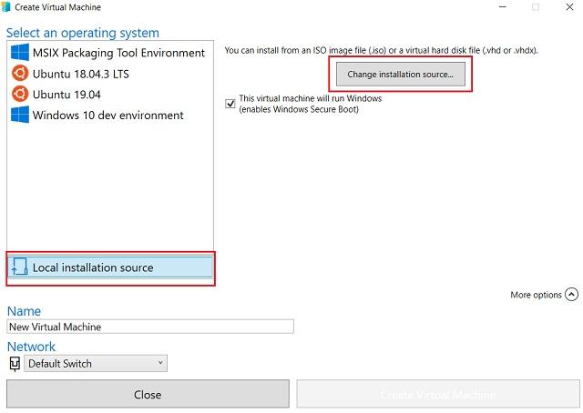 2. Cree la máquina virtual 3 de Windows 10