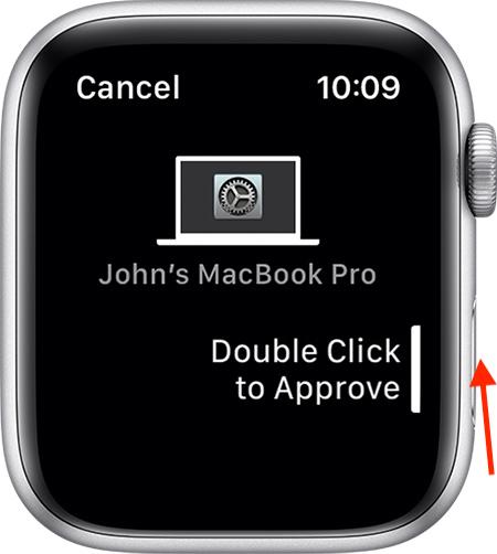 Двойной щелчок по боковой кнопке для аутентификации