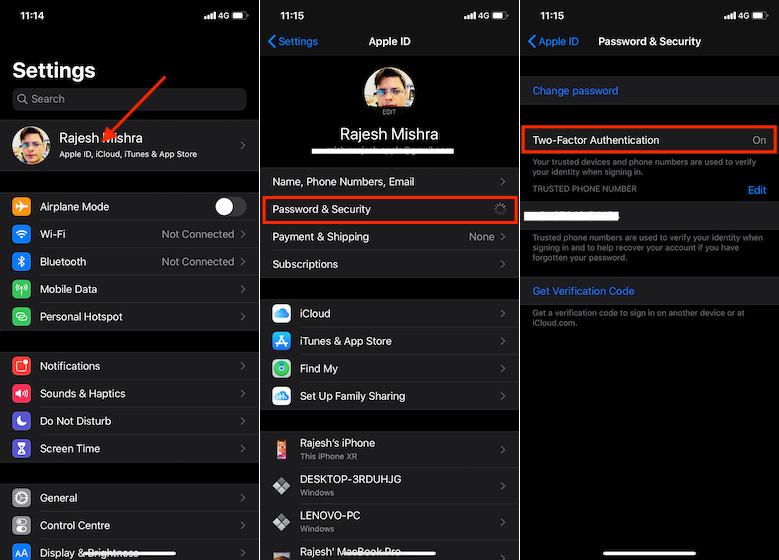 Включить двухфакторную аутентификацию на iPhone и iPad - не работает