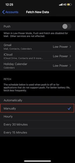 Seleccionar manualmente: recuperar datos de Gmail e iCloud manualmente en iPhone y iPad