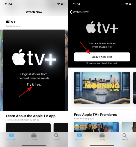 suscripción gratuita a apple tv +