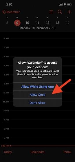 Разрешить приложениям доступ к вашему местоположению