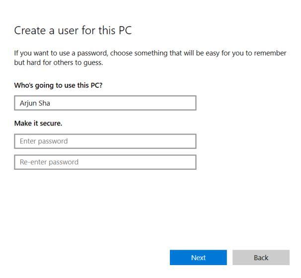 Resuelva el error 'No podemos iniciar sesión en su cuenta' en Windows 10