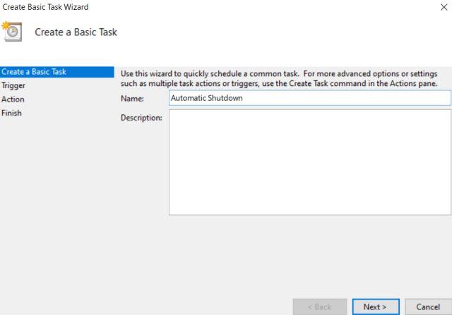Как запланировать автоматическое выключение в Windows 10 9