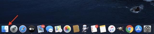Abre Finder en tu Mac