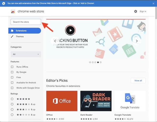 Βρείτε μια επέκταση Chrome