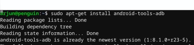 установить ADB на Chrome OS