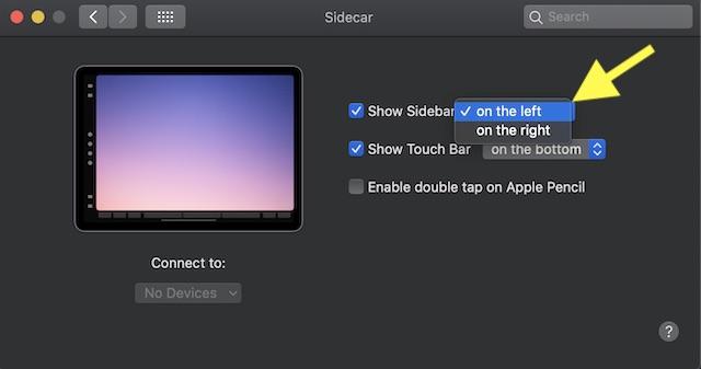 Mostrar barra lateral oculta en iPad