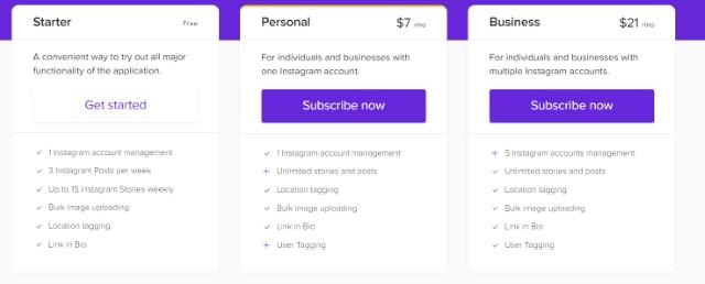 pricing combin - scheduler