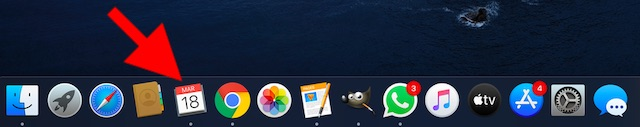 Aplicación Apple Calendar para macOS