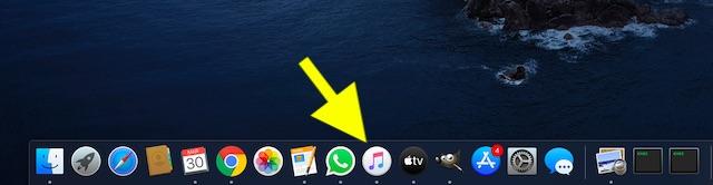 Launch Apple Music app on Mac