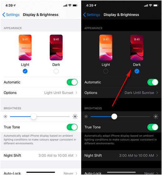 WA dark mode iOS screenshot body 2