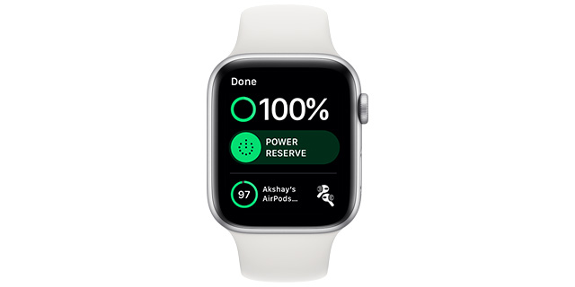 check airpods battery life apple watch