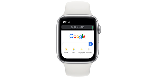 browse internet apple watch