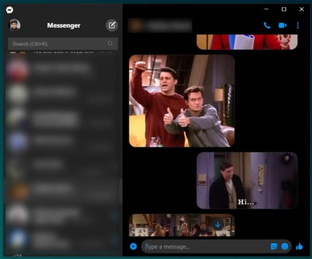 messenger dark mode - desktop app