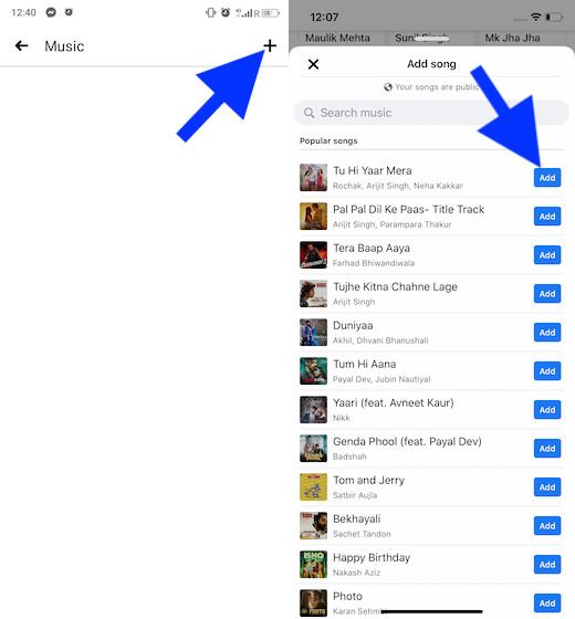 Agrega una canción a tu perfil de Facebook