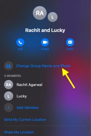 Cambiar el nombre y la foto del grupo