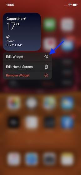 Editar un widget de pantalla de inicio