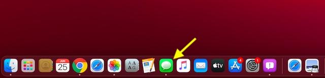 Abra la aplicación Mensajes en su Mac