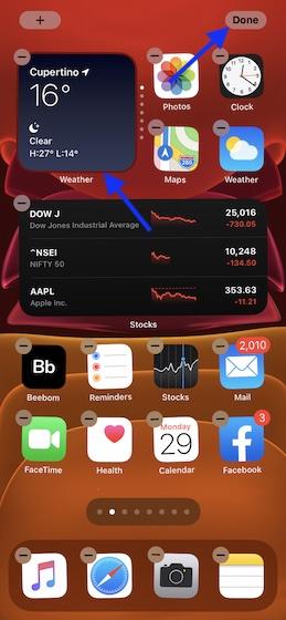 Usar Smart Stack en la pantalla de inicio