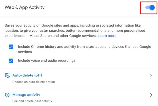 Автоудаление в Интернете и история местоположений в Google