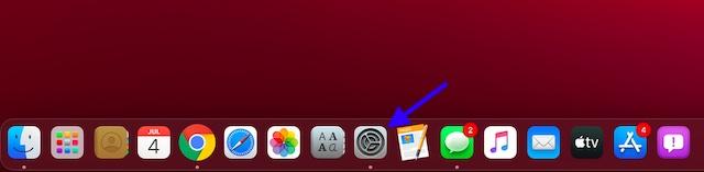 Запустите приложение «Настройки» на Mac