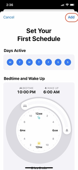 Configurar el seguimiento del sueño en su iPhone 5