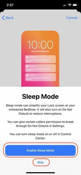 Configurar el seguimiento del sueño en su iPhone 7