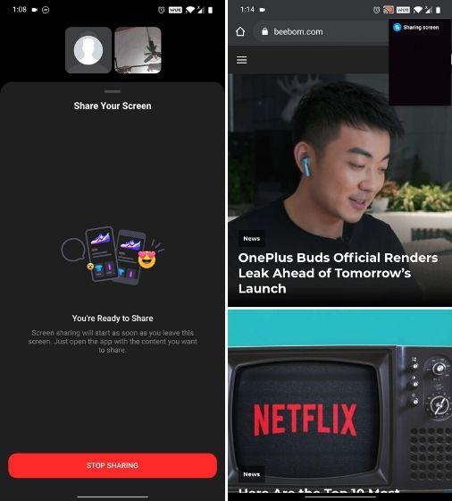 Compartir pantalla mientras realiza videollamadas en Messenger