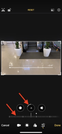 Alineación de video vertical