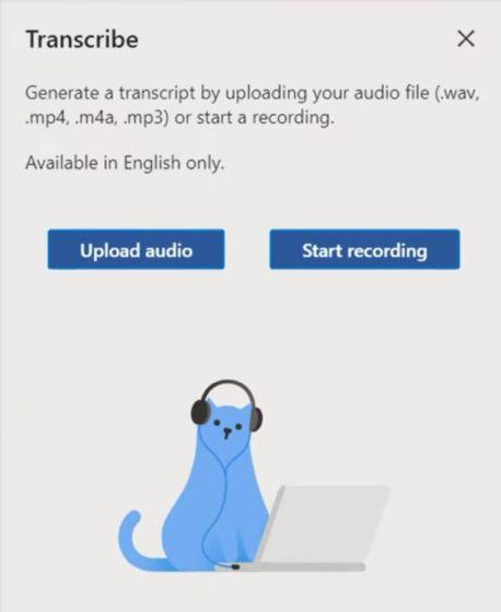 Transcribir audio en Microsoft Word