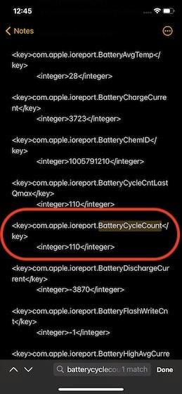 Счетчик циклов батареи на iOS